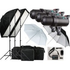 DE-300 900w Flash Studio Strobe light Kit 3 x 300w heads